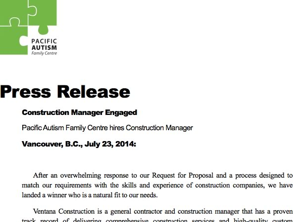 Construction Manager Engaged