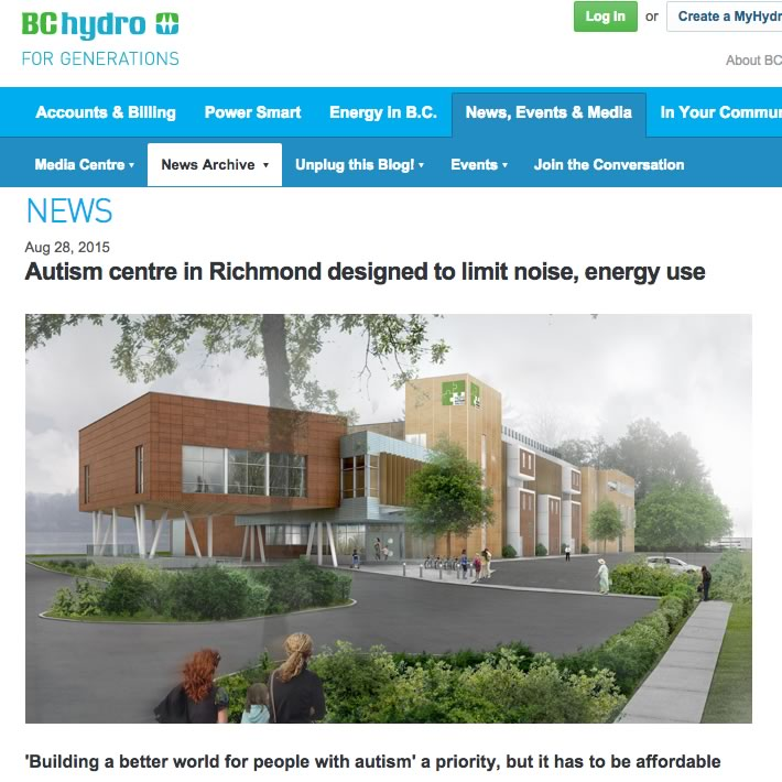 BC HYDRO: Autism centre in Richmond designed to limit noise, energy use